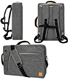 Gray 10' to 12-inch Convertible Laptop Bag for Samsung Galaxy Book, Chromebook, Galaxy Tab S6, S5e, Tab A, S4 10.5 10.1
