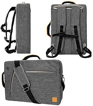 VanGoddy Slate Gray Convertible Laptop Bag for Apple iPad Pro iPad 9.7  to 12.9-inch