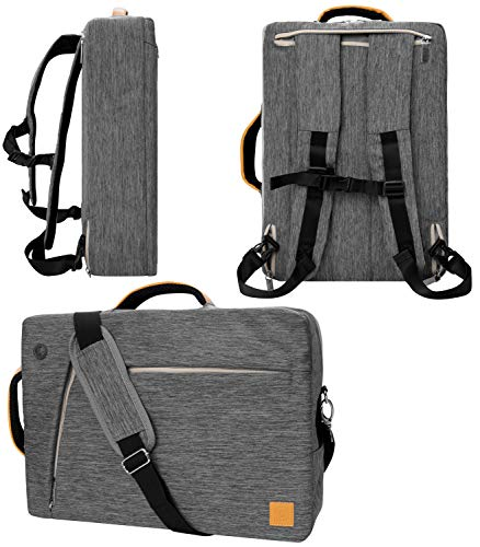 """Gray Convertible Laptop Bag for Microsoft Surface Book 2 13.5"""" 15"""", Surface Pro 7 6 12.3"""" X 13"""", Laptop 2 3 4 13.5"""" 15"""""""