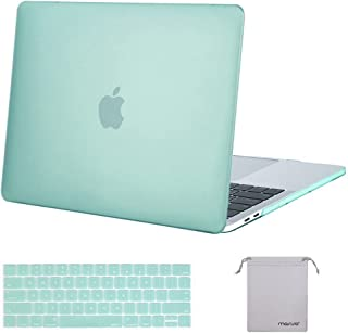 MOSISO MacBook Pro 13 inch Case 2019 2018 2017 2016 Release A2159 A1989 A1706 A1708, Plastic Hard Shell&Keyboard Cover&Storage Bag Compatible with MacBook Pro 13 inch w/ & w/o Touch Bar, Mint Green
