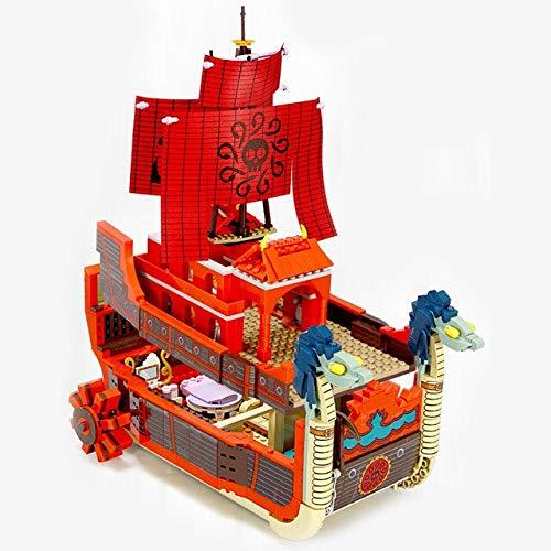 LON 1484 Uds una Pieza Barcos Thousand Sunny Pirate Idea Figuras Bloques de construcción Juguetes para niños Regalos Barcos Modelo de Bloques Luffy