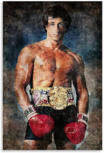 Diy 5d Diamante Pintura Kits Rocky Balboa The Champion Movie Diamond Painting Completo Bordado Punto De Cruz Craft 7.8'x11.8'(20x30cm) Sin Marco