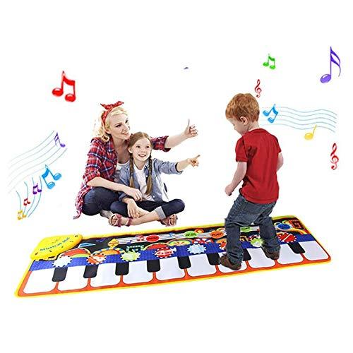 POWER BANKS Musikalische Matten für Kinder, Baby-Klaviermatten Touch Play-Spiel Tanzmusik Teppichmatte Tierdecke, Baby-Spielzeug für Kinder in der frühen Bildung Geschenk