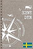 Schweden Reisetagebuch: Reise Tagebuch zum Selberschreiben, ca. A5 - Journal Dotted Punkteraster, Bucket List für Urlaub, Ferien Trip, Auslandsjahr, Auswanderer - Notizbuch Dot Grid punktiert