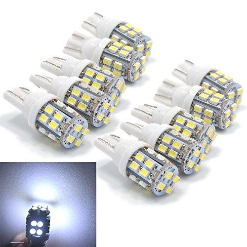 PolarLander 10pcs LED Blanc Cale Wedge Light 20 SMD Plaque d'immatriculation Auto Liquidation Lampe Lampe de Lecture DC 12v