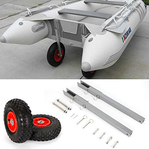 NICECHOOSE Boat Launching Wheels, Aluminum Transom Launching Wheel Dolly Tires for Inflatable Dinghy Boat (US Shipping)