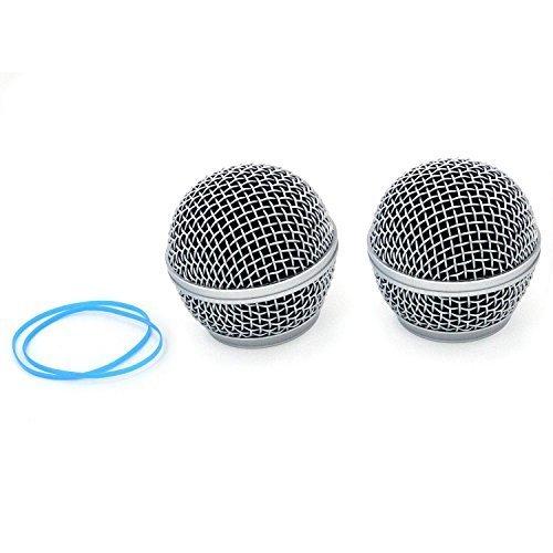zramo TH115micrófono parrilla de malla rótula de bola para SHURE SM58BETA58sm58lc sa-m30SV100rk143g para Shure pgx2Slx2micrófonos inalámbricos repuesto Universal Protector de