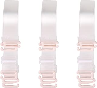 3-Pairs Clear Bra Straps,Invisible Bra Replacement Transparent Bra Straps Multiple Width Removable