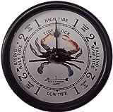 West & Company 9 1/2' Blue Crab Tide Clock