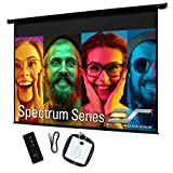 Elite Screens 128' Spectrum Electric Motorized Projector Screen with Multi Aspect Ratio Function Diag 16:10 & 124-inch Diag 16:9, Home Theater 8K/4K Ultra HD Ready Projection