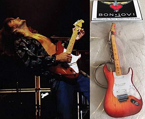 Schlüsselanhänger Gitarre Fender Richie Sambora Stratocaster Bon Jovi Cherry Burst