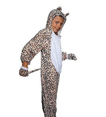 Leopard 3D Karneval Kinder Kostüm (104)