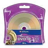 Verbatim 16x DVD+R LightScribe Blank Media, 4.7GB/120min - 10 Pack (96943)