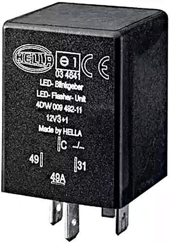 HELLA 4DW 009 492-111 Blinkgeber - 12V - 4-polig - gesteckt - LED - mit Halter