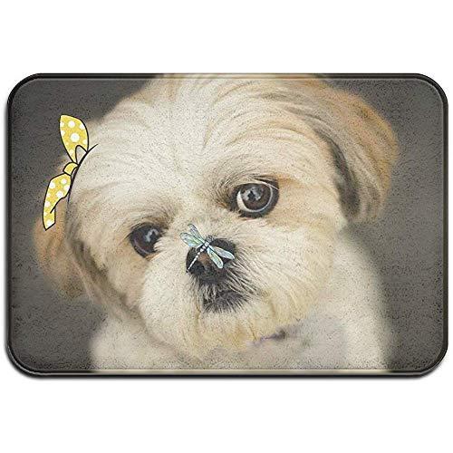 DaiMex Shih Tzu Little Dog Outdoor mat huisdeurmatten ingangstapijt standaard tapijt