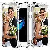SHUMEI Funda Personalizar para Apple iPhone 7 Plus y iPhone 8 Plus, 5.5 diseño de imagen de foto regalo de Fotos, absorción de Golpes, Cubierta de TPU Suave y Transparente Para Bricolaje HD Picture