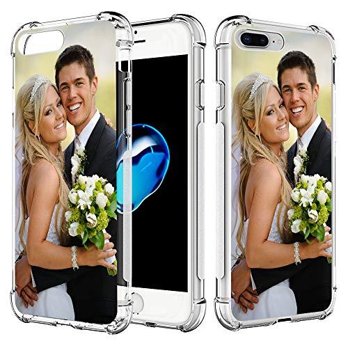 SHUMEI Funda personalizada para Apple iPhone 7 Plus y iPhone 8 Plus, 5.5 pulgadas personalizada foto regalo absorción choque suave transparente TPU cubierta DIY HD imagen