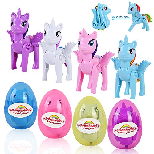 VAPCUFF Toys for Girls Age 2-9, Easter Egg Stuffers with 4 Pcs Unicorn...