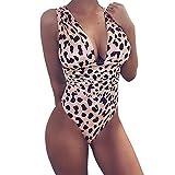 TSWRK Donna Swimwear Un Pezzo Costumi da Bagno Costume Intero Sexy Bikini Colore Rosa Rosso Leopardo Spiaggia Punsh-up