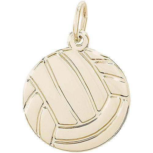 Rembrandt 14K Yellow Gold Volleyball Charm (16 x 16 mm)