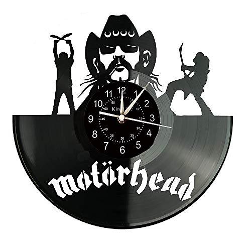 Smotly Vinyl Wanduhr, Motörhead Design große Wanddekoration Uhr, Geschenk handgemachte Wanduhr.