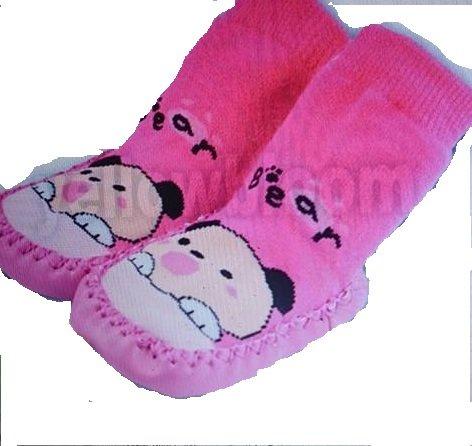 Bebedou Rosa y Azul en casa oso de peluche más lindos calcetines...