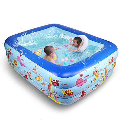 ALBB Kinderschwimmbad, Aufblasbarer Gartenpaddel-Schwimmpool Der Familie Ocean Life Kids Planschbecken Umwälzpumpe Fit Für Bodenbecken,71 * 55 * 24in
