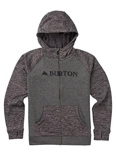 Burton Jungen Oak Full-Zip Hoodie, Shade Heather/Heather True Black, XL