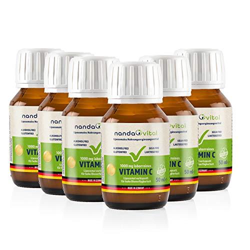 Liposomales Vitamin C hochdosiert 1000mg - Liposomal VitaminC - flüssig, vegan von Nanda Vital 300ml