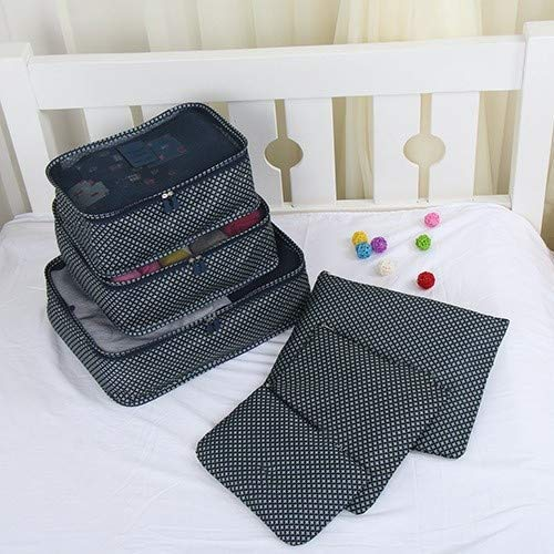 WFFF - Juego de 6 organizadores de viaje, bolsa de almacenamiento portátil para equipaje