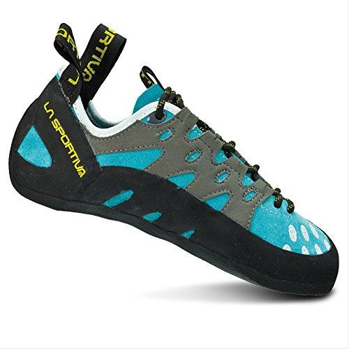 La Sportiva Women's TarantuLace Performance Rock Climbing Shoe, Turquoise, 39.5 M EU