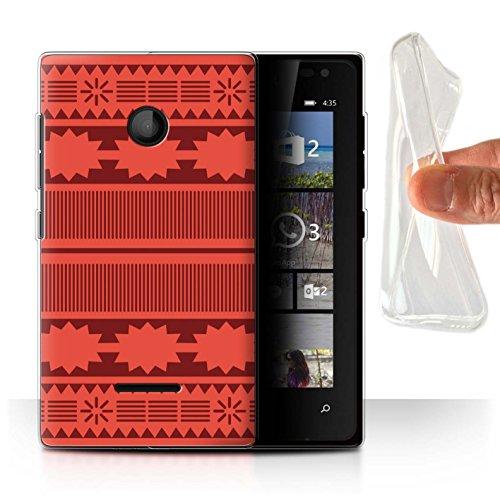 Stuff4 Gel TPU Hülle/Case für Microsoft Lumia 435 / Aztek/Prinzessin Kleid Muster/Karikatur Polynesische Prinzessin Kollektion