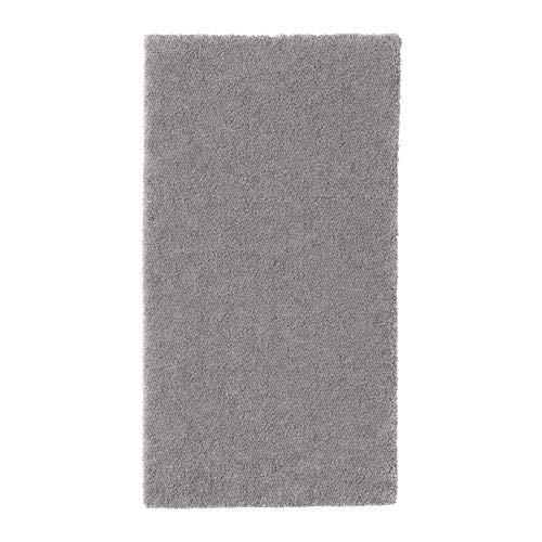 Ikea - Tappeto a pelo basso, 80 x 150 cm, resistente, antimacchia e facile da pulire, poiché il tappeto è realizzato in fibre sintetiche, grigio medio