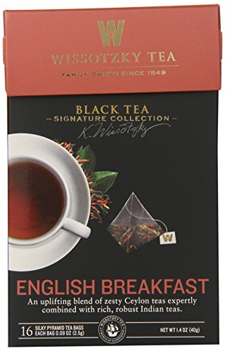 Wissotzky the Signature Collection Tea, English Breakfast, 16 Count (Pack of 6)