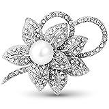 ❀ Il quadrifoglio è uno dei simboli di fortuna più comuni del mondo. Porteranno fortuna di buon auspicio a quelli che li indossano. ❀ Artigianato Squisito. Cristalli austriaci selezionati con eccellente taglio al diamante. Lega, placcato platino,AAA ...