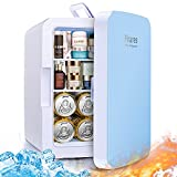 Firares Rapid Cooling 10 Liter/12 Can Mini Fridge for Bedroom, Protable Skincare Fridge...