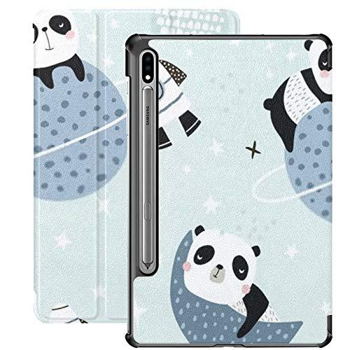 Funda para Samsung Galaxy S7 con patrón Infantil sin Costuras Slepping Pandas en PU Funda de Cuero para Samsung Galaxy Tab S7 de 11 Pulgadas 2020, Funda para Samsung Galaxy Tab S7 con activación/s