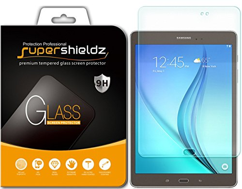 (2 Pack) Supershieldz for Samsung Galaxy Tab A 9.7 Screen Protector, (Tempered Glass) Anti Scratch, Bubble Free