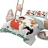 Juego de ropa de cama de edredón Cinco de Mayo Ropa de cama personalizada Lavable a máquina Bailarines mexicanos tradicionales Pareja para música latina Tema de celebración popular Tamaño completo Mul