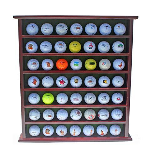 Style classique beauté la vente de chaussures Display Gifts Inc. Cadeau de Golf, 49-Ball Vitrine Armoire Rack, Finition  Acajou Gb20-mah