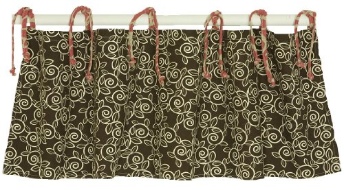 Cotton Tale Designs Raspberry Dot Valance
