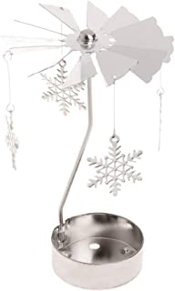 EA-STONE Wall Candle Holder, Rotating Metal Candlestick -05 Small Snowflake S for Dining Room Table Christmas Decorations
