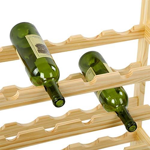 Cerlingwee Soporte de Vino, estantes de Almacenamiento de Vino de practicidad de bambú para gabinetes para Comedor para sótano para casa para Cocina para Bar
