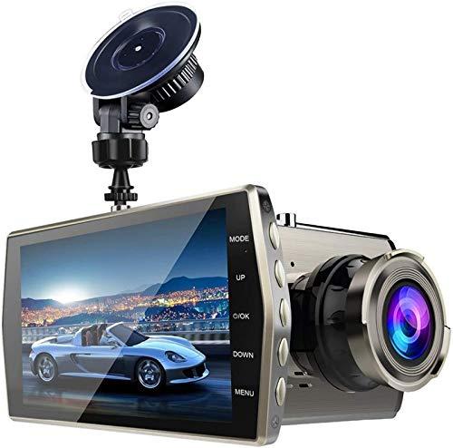 4' Cámara de Coche, Cámara de Coche Retrovisor para Automóviles 1080P Full HD 170° Gran Angular, Monitor Aparcamiento, Pantalla LCD, G-Sensor, Grabación Bucle