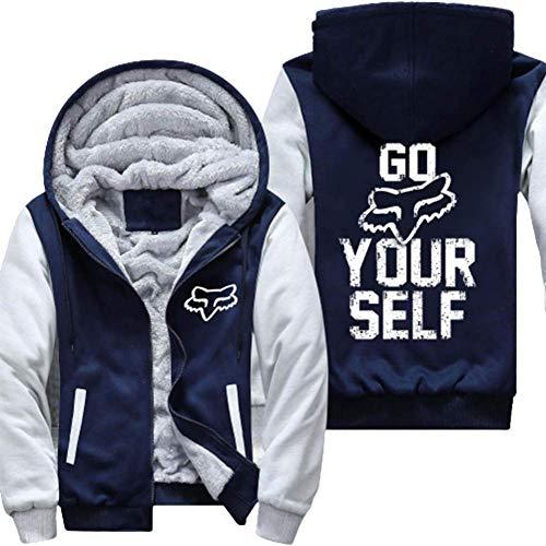 Chaqueta con Capucha Go Your Self, suéter Deportivo Informal de Manga Larga Scania, Top de Terciopelo Grueso de Felpa, Unisex
