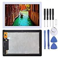 Asus ZenPad 10 Z301MFL LTE Edition / Z301MF WiFi Edition 1920 x 1080ピクセル用スクリーン交換キットLCDスクリーンおよびデジタイザーフルアセンブリ(ブラック) zhongcheng (色 : 白)