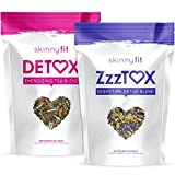 SkinnyFit Detox and ZzzTox 24/7 Bundle, 56 Servings, Supports Weight Loss, Helps Calm Bloating, All-Natural, Laxative-Free, Green Tea Leaves, Help Fight Toxins and Relieve Stress