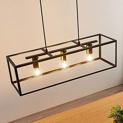 Lindby Pendelleuchte 'Emily' (Modern) in Schwarz aus Metall u.a. für Küche (3 flammig, E27, A++) - Deckenlampe, Esstischlampe, Hängelampe, Hängeleuchte, Küchenleuchte