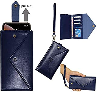 $21 » Jennyfly Galaxy S9 Wallet Case,Women Girl Fashion PU Leather Protection Wallet Purse Case Easy Carry Sleeve Pocket Phone Cover with Hand Strap Credit Cards Pocket for 6.5-7.2 inch Phones - Dark Blue