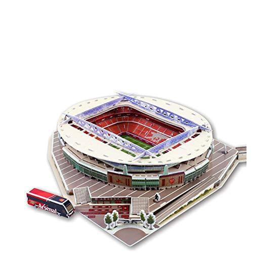 SDBRKYH Emirates Stadium Model, Stadion 3D Puzzle britische Arsenal Football Club Souvenir-Sammlung Dekorative Skulptur